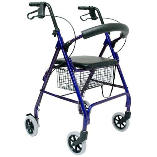 תמונה של רולטור 4 גלגלים מאלומיניום עם מושב