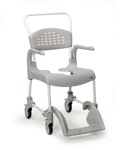 תמונה של כסא רחצה ושרותים עם גלגלים דגם clean