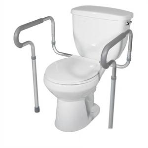 תמונה של ידיות אחיזה לשירותים מתחברות לאסלה