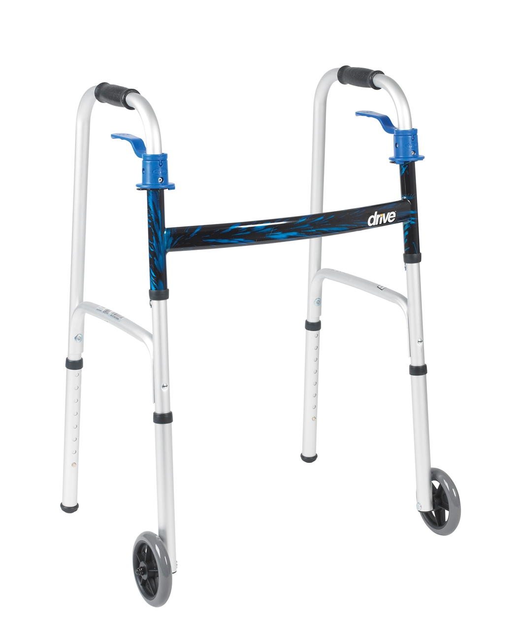 תמונה של הליכון למבוגרים מתקפל עם גלגלים